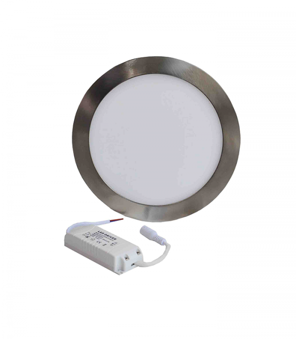 Painel LED redondo níquel 6w
