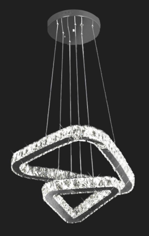 Candeeiro suspensão cristal Desani 2 57w